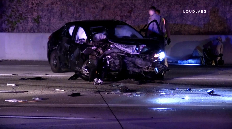 Los Angeles] ANAHEIM: Multi Vehicle Crash on Interstate 5 | Loudlabs