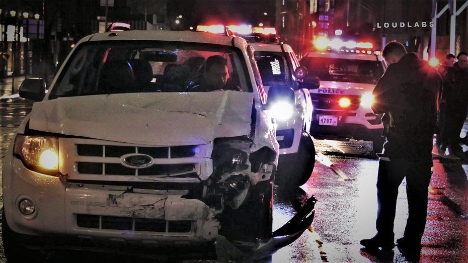 Manhattan Police Car Vs Uber Suv Loudlabs