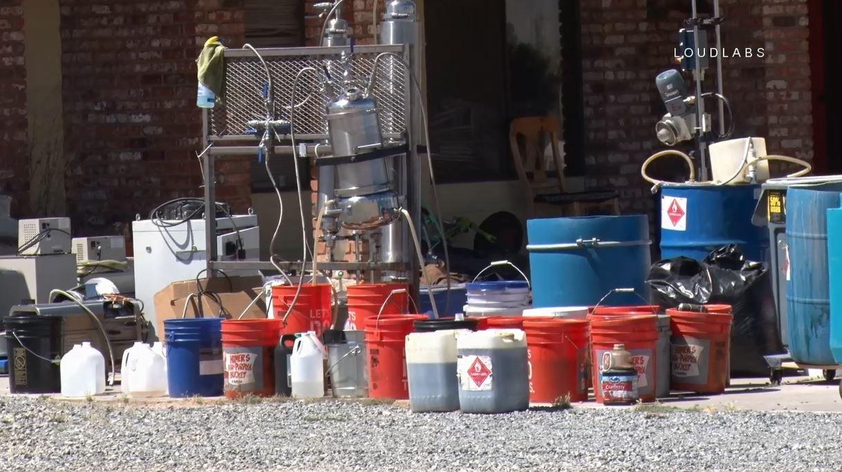 HESPERIA: Possible Drug Lab Hazmat   Loudlabs